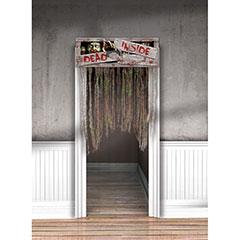 Decoración puerta Halloween con flecos