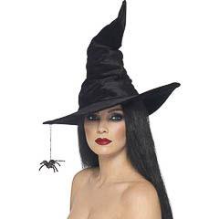 Sombrero de bruja Negro de terciopelo