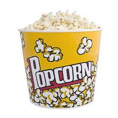 Bowl para palomitas grande plástico con dibujos Popcorn