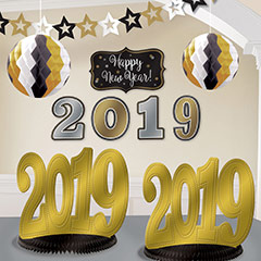 Set decoración 2019 Happy New Year
