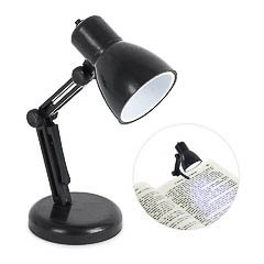 Luz de lectura lámpara negra