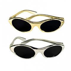 Gafas alargadas plata y oro, pack 12 u.