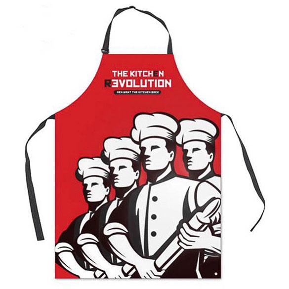 Delantal Revolution, Hombres en la cocina