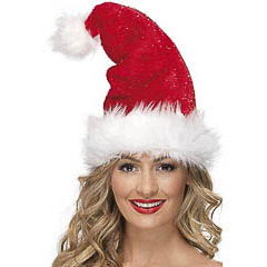 Gorro Papá Noel super lujoso