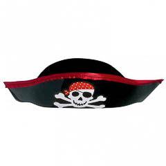 Sombrero plástico pirata infantil