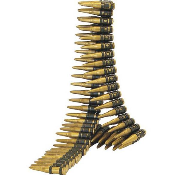 Cadena balas ametralladora
