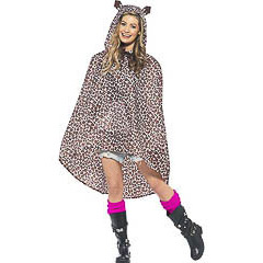 Capa Chubasquero poncho modelo Leopardo