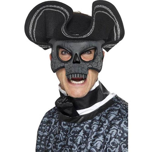 Media Máscara veneciana capitán pirata