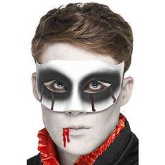 Antifaz rígido zombi con sangre
