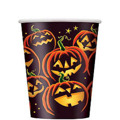 Vasos Calabazas Halloween 270 ml, Pack 8 u.