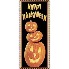 Cartel puerta plástico Happy Halloween