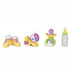 Velas cumpleaños accesorios bebé, Pack 4 u.