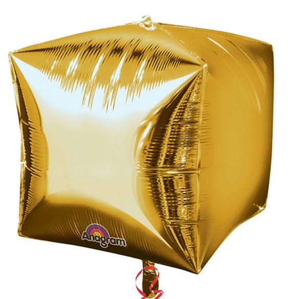 Globo cubo dorado