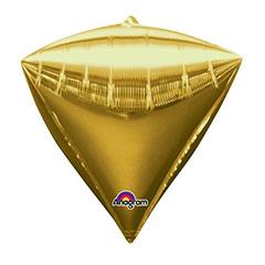 Globo diamante dorado