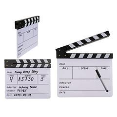 Claqueta cine blanca grande plástico