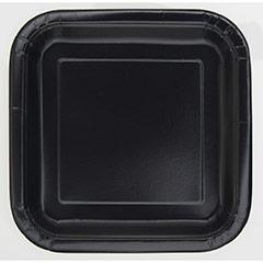Platos negros 17,50 x 17,50 cm, Pack 16 u.
