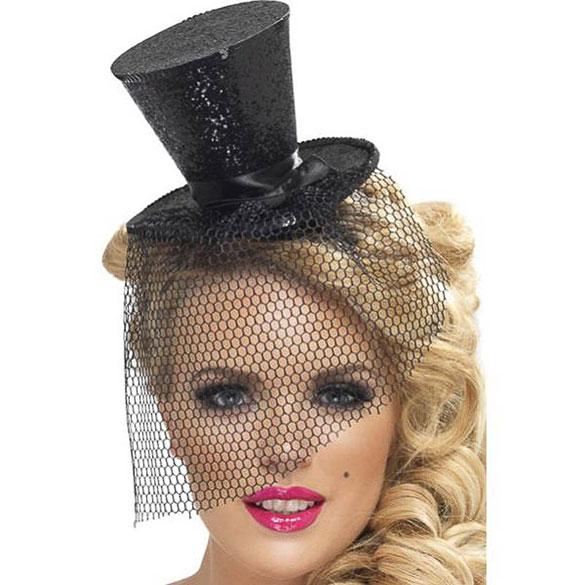 Diadema sombrero de copa mini