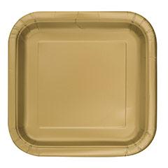 Platos dorados 17,50 x 17,50 cm, Pack 16 u.