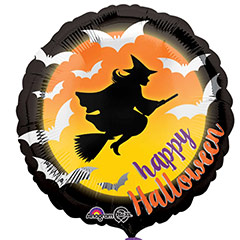 Globo Happy Halloween Bruja
