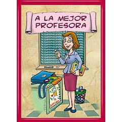 Marco diploma a la mejor profesora