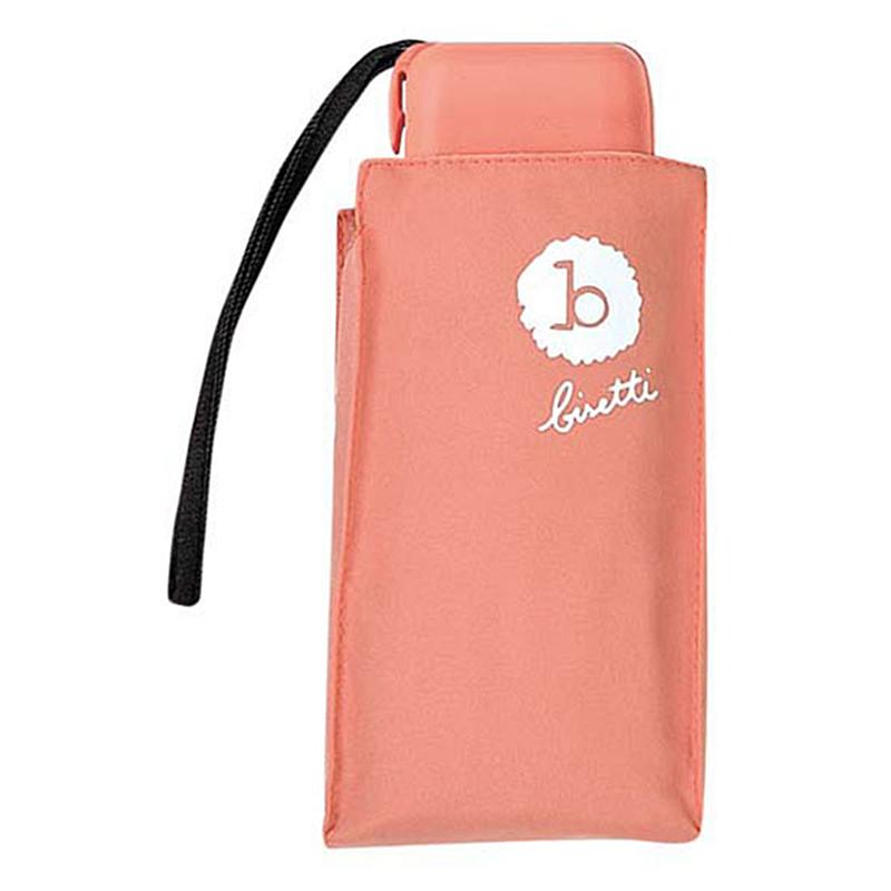 Paraguas Bisseti plegable mini señora rosa piel