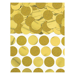 Confeti metálico redondo dorado