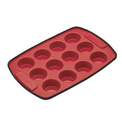 Molde silicona 12 mini cupcakes, muffins, madalenas 29 x 20 cm