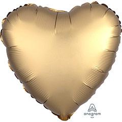 Globo Corazón Oro Satín