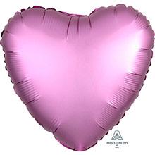 Globo Corazón Rosa Satín