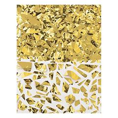 Confeti metálico dorado