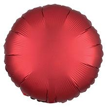 Globo redondo Rojo Satín