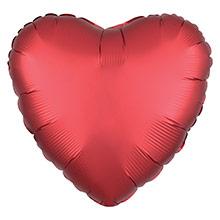 Globo Corazón Rojo Satín