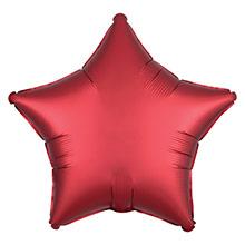 Globo Estrella Rojo Satín