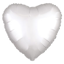 Globo Corazón Blanco Satín
