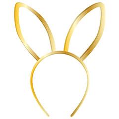 Diadema orejas de conejo metálica