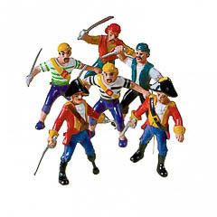 Muñecos piratas, Pack 3 u.