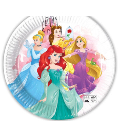 Platos Princesas 23 cm, Pack 8 u.
