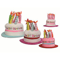 Sombrero tarta cumpleaños adulto talla única