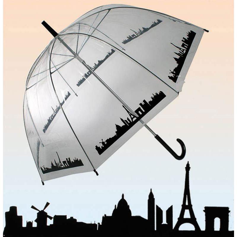 Paraguas transparente Paris