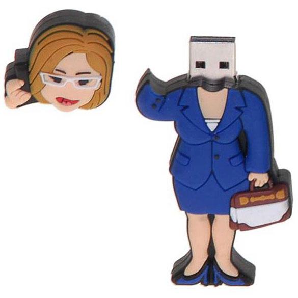 Memoria USB ejecutiva o mujer de negocios 8GB