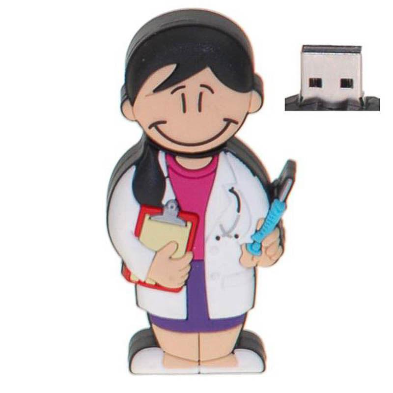 Memoria USB doctora o médico 8GB