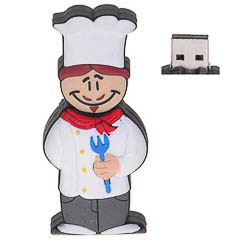 Memoria USB cocinero 8GB