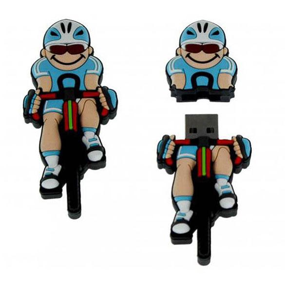 Memoria USB ciclista pedaleando 8GB