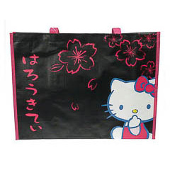 Bolsa playa piscina Hello Kitty rectangular negra