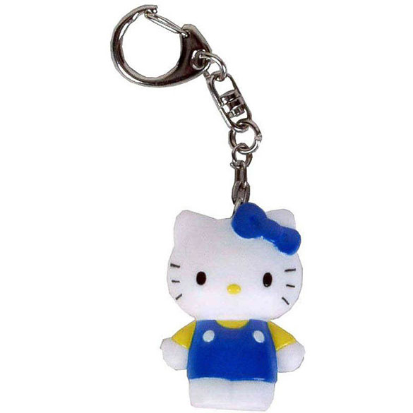 Llavero muñeca Hello Kitty azul y blanco