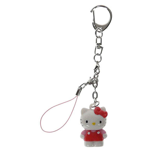 Llavero muñeca Hello Kitty de pie