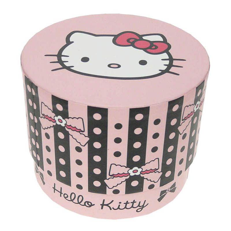 Caja cartón cilíndrica Hello Kitty