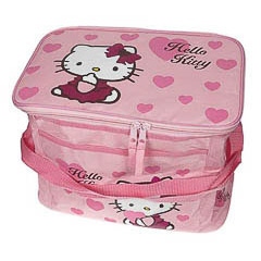 Bolsa nevera Hello Kitty de color rosa modelo corazones