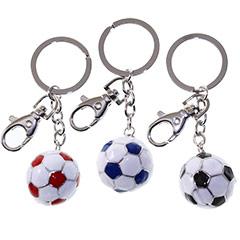 Llavero balón de fútbol en 3 colores