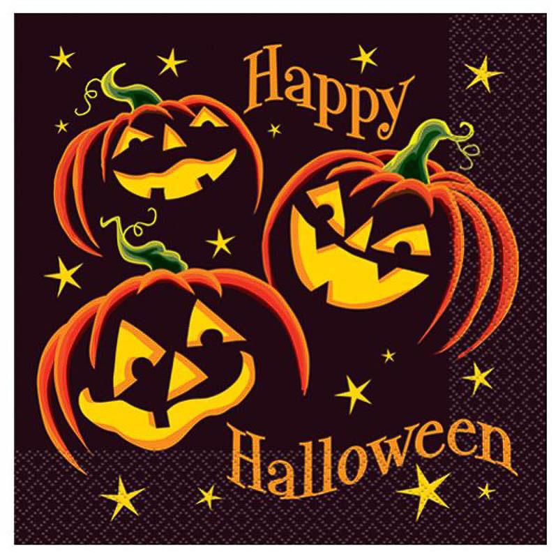 Servilletas Calabazas Halloween 33 x 33 cm, Pack 16 u.